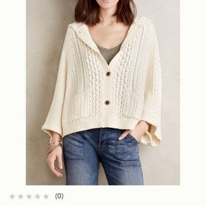 Poncho type hooded sweater